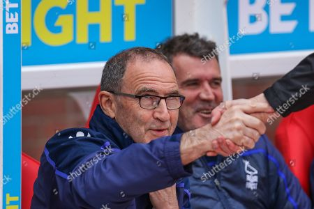 Martin O'Neill shakes hands before the EFL Sky Bet Championship match between Nottingham Forest and Bolton Wanderers at the City Ground, Nottingham
