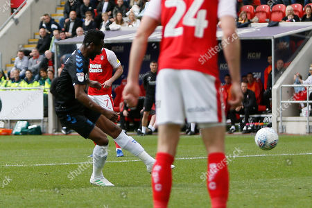 Goal scored by Middlesbrough midfielder Mikel John Obi (2)  during the EFL Sky Bet Championship match between Rotherham United and Middlesbrough at the AESSEAL New York Stadium, Rotherham