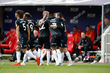 Goal celebration by Middlesbrough midfielder Mikel John Obi (2)  during the EFL Sky Bet Championship match between Rotherham United and Middlesbrough at the AESSEAL New York Stadium, Rotherham