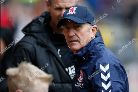 Stock Photo of Middlesbrough Manager Tony Pulis during the EFL Sky Bet Championship match between Rotherham United and Middlesbrough at the AESSEAL New York Stadium, Rotherham