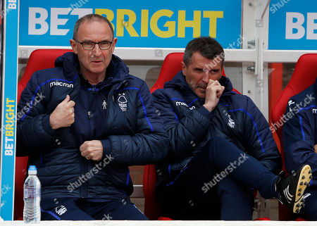 Nottingham Forest Manager Martin O'Neill and  Assistant Manager Roy Keane