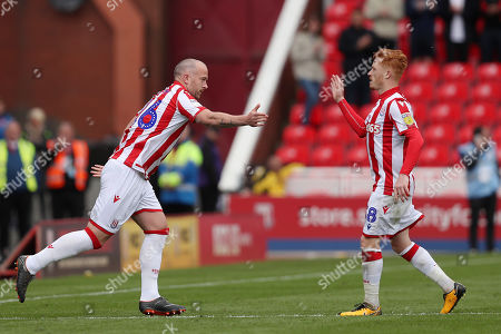 Charlie Adam of Stoke City comes on as a substitute for Ryan Woods