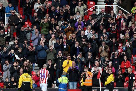 Stoke City fans applaud Charlie Adam