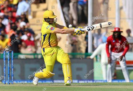 Shane Watson of Chennai Super Kings bats during the VIVO IPL T20 cricket match between Kings XI Punjab and Chennai Super Kings in Mohali, India