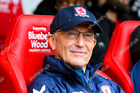 Stock Image of Middlesbrough manager Tony Pulis