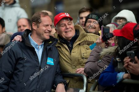 Christian Prudhomme stops for a selfie during stage four of the Tour de Yorkshire from Halifax to Leeds,