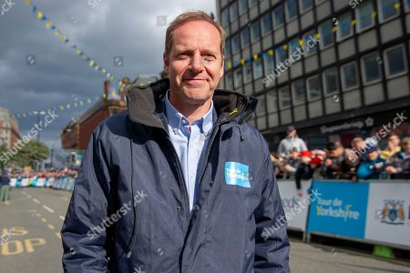 Christian Prudhomme during stage four of the Tour de Yorkshire from Halifax to Leeds,