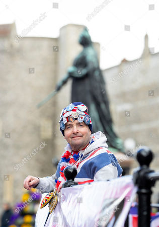 Stock Picture of John Loughrey, 64 continues his vigil at Windsor Castle as he awaits for the Birth of Baby Sussex