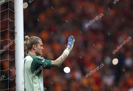 Besiktas' goalkeeper Loris Karius reacts during the Turkish Super League soccer match between Galatasaray and Besiktas in Istanbul, Turkey, 05 May 2019.