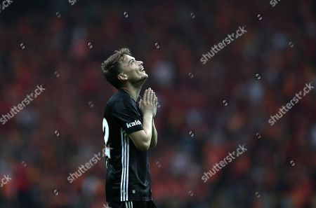 Stock Photo of Besiktas' Adem Ljajic reacts during the Turkish Super League soccer match between Galatasaray and Besiktas in Istanbul, Turkey, 05 May 2019.