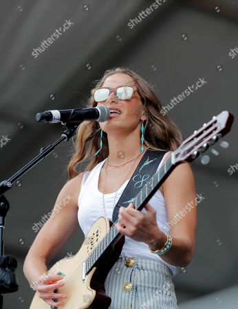 Stock Photo of Caroline Jones performs at the New Orleans Jazz & Heritage Festival in New Orleans
