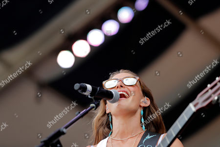 Caroline Jones performs at the New Orleans Jazz & Heritage Festival in New Orleans