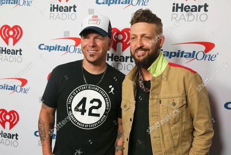 Chris Lucas, Preston Brust. LOCASH's Chris Lucas, left, and Preston Brust arrive at the iHeartCountry Festival at the Frank Erwin Center, in Austin, Texas