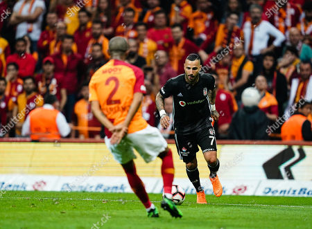 Ricardo Quaresma of Besiktas and Mariano of Galatasaray during the Turkish Super Lig match between Galatasaray S.K. and Besiktas at the Türk Telekom Arena in Istanbul , Turkey