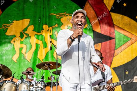 Frankie Beverly, Maze. Frankie Beverly performs with Maze at the New Orleans Jazz and Heritage Festival, in New Orleans