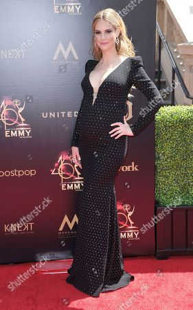 Kelly Kruger arrives at the 46th annual Daytime Emmy Awards at the Pasadena Civic Center, in Pasadena, Calif