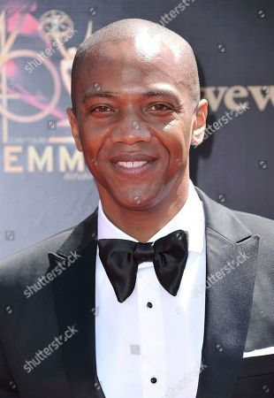 J. August Richards arrives at the 46th annual Daytime Emmy Awards at the Pasadena Civic Center, in Pasadena, Calif