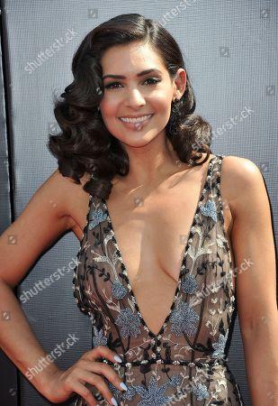 Camila Banus arrives at the 46th annual Daytime Emmy Awards at the Pasadena Civic Center, in Pasadena, Calif