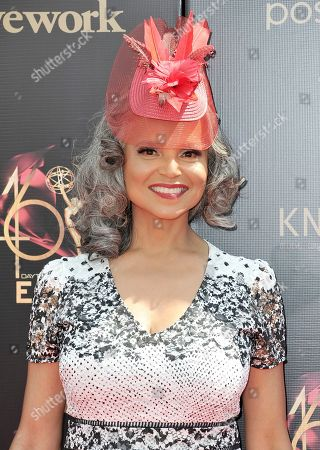 Victoria Rowell arrives at the 46th annual Daytime Emmy Awards at the Pasadena Civic Center, in Pasadena, Calif