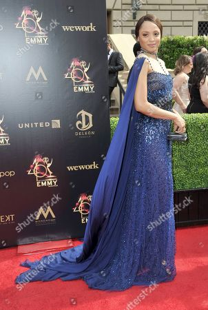 Sal Stowers arrives at the 46th annual Daytime Emmy Awards at the Pasadena Civic Center, in Pasadena, Calif