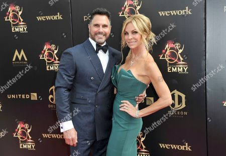 Don Diamont, Cindy Ambuehl. Don Diamont, left, and Cindy Ambuehl arrive at the 46th annual Daytime Emmy Awards at the Pasadena Civic Center, in Pasadena, Calif