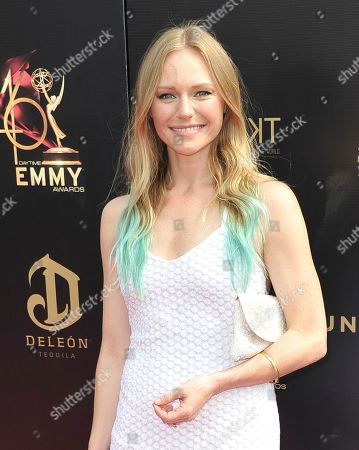 Marci Miller arrives at the 46th annual Daytime Emmy Awards at the Pasadena Civic Center, in Pasadena, Calif