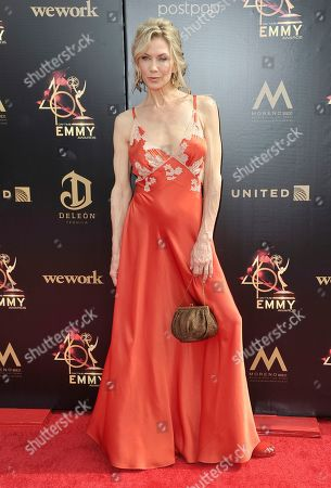 Stacy Haiduk arrives at the 46th annual Daytime Emmy Awards at the Pasadena Civic Center, in Pasadena, Calif