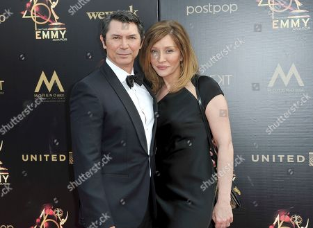 Lou Diamond Phillips, Yvonne Boismier Phillips. Lou Diamond Phillips, left, and Yvonne Boismier Phillips arrive at the 46th annual Daytime Emmy Awards at the Pasadena Civic Center, in Pasadena, Calif