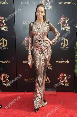 Stock Image of Shanti Lowry arrives at the 46th annual Daytime Emmy Awards at the Pasadena Civic Center, in Pasadena, Calif