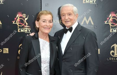 Judy Sheindlin, Jerry Sheindlin. Judy Sheindlin, left, and Jerry Sheindlin arrive at the 46th annual Daytime Emmy Awards at the Pasadena Civic Center, in Pasadena, Calif