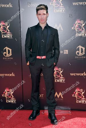 Kristos Andrews arrives at the 46th annual Daytime Emmy Awards at the Pasadena Civic Center, in Pasadena, Calif