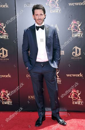 Stock Image of Brandon Beemer arrives at the 46th annual Daytime Emmy Awards at the Pasadena Civic Center, in Pasadena, Calif