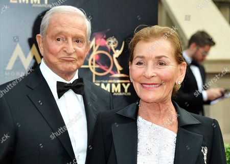 Jerry Sheindlin, Judy Sheindlin. Jerry Sheindlin, left, and Judy Sheindlin arrive at the 46th annual Daytime Emmy Awards at the Pasadena Civic Center, in Pasadena, Calif