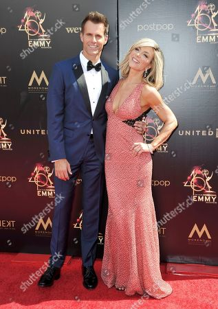 Cameron Mathison, Debbie Matenopoulos. Cameron Mathison, left, and Debbie Matenopoulos arrive at the 46th annual Daytime Emmy Awards at the Pasadena Civic Center, in Pasadena, Calif