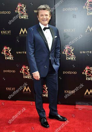 John Michael Higgins arrives at the 46th annual Daytime Emmy Awards at the Pasadena Civic Center, in Pasadena, Calif