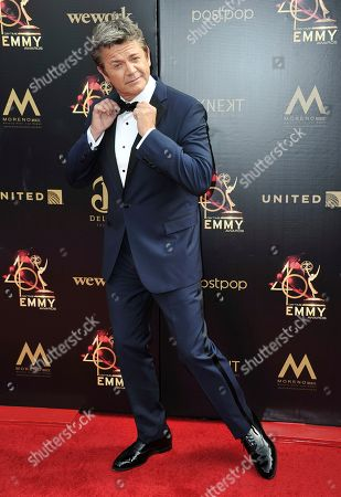 Stock Picture of John Michael Higgins arrives at the 46th annual Daytime Emmy Awards at the Pasadena Civic Center, in Pasadena, Calif