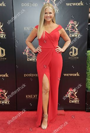 Nancy O'Dell arrives at the 46th annual Daytime Emmy Awards at the Pasadena Civic Center, in Pasadena, Calif