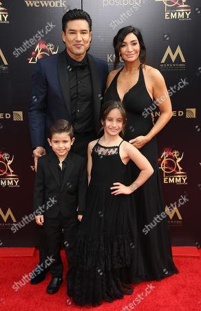 Mario Lopez, Courtney Mazza, Dominic Lopez and Gia Francesca Lopez