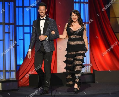 David Osmond, Joely Fisher. David Osmond, left and Joely Fisher present an In Memoriam tribute at the 46th annual Daytime Emmy Awards at the Pasadena Civic Center, in Pasadena, Calif