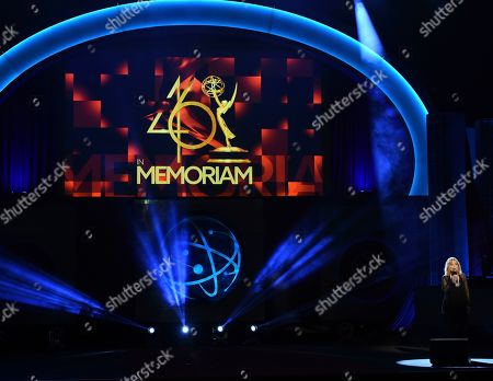 Roslyn Kind performs during an In Memoriam tribute at the 46th annual Daytime Emmy Awards at the Pasadena Civic Center, in Pasadena, Calif