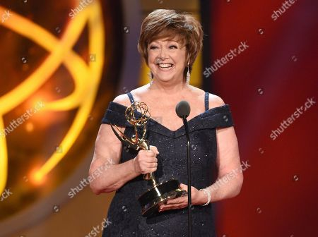 "Patricia Bethune accepts the award for outstanding guest performer in a drama series for ""General Hospital"" at the 46th annual Daytime Emmy Awards at the Pasadena Civic Center, in Pasadena, Calif"