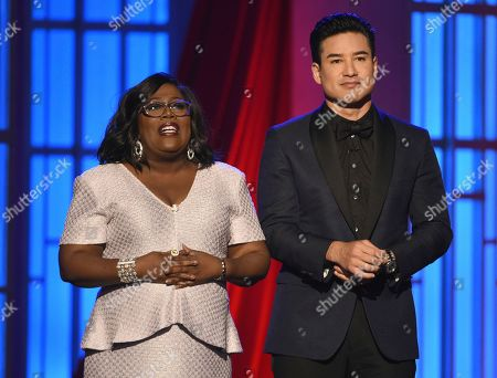 Mario Lopez, Sheryl Underwood. Hosts Mario Lopez, right, and Sheryl Underwood speak at the 46th annual Daytime Emmy Awards at the Pasadena Civic Center, in Pasadena, Calif