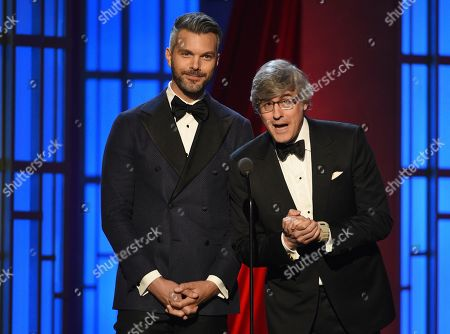 A.J. Gibson, Mo Rocca. A.J. Gibson, left, and Mo Rocca present the award for outstanding culinary host at the 46th annual Daytime Emmy Awards at the Pasadena Civic Center, in Pasadena, Calif