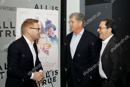 Stock Picture of Sir Kenneth Branagh (Director,Writer,Actor), Tom Bernard (Co-Pres. SPC) and Michael Barker (Co-Pres. SPC)