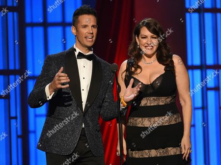 Stock Picture of David Osmond, Joely Fisher. David Osmond, left and Joely Fisher present an In Memoriam tribute at the 46th annual Daytime Emmy Awards at the Pasadena Civic Center, in Pasadena, Calif