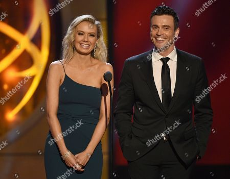 Melissa Ordway, Daniel Goddard. Melissa Ordway, left, and Daniel Goddard present the award for outstanding entertainment talk show at the 46th annual Daytime Emmy Awards at the Pasadena Civic Center, in Pasadena, Calif