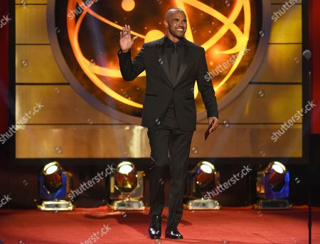 Stock Image of Shemar Moore walks on stage at the 46th annual Daytime Emmy Awards at the Pasadena Civic Center, in Pasadena, Calif