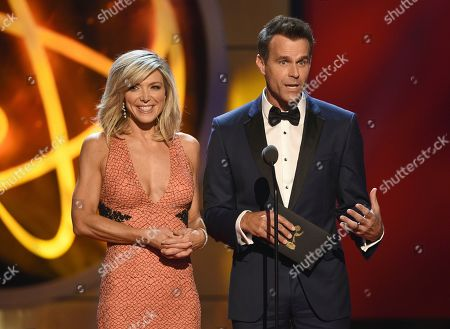 Debbie Matenopoulous, Cameron Mathison. Debbie Matenopoulos, left, and Cameron Mathison present the award for outstanding informative talk show at the 46th annual Daytime Emmy Awards at the Pasadena Civic Center, in Pasadena, Calif