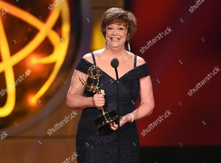 "Patricia Bethune accepts the award for outstanding guest performer in a drama series for ""General Hospital,"" at the 46th annual Daytime Emmy Awards at the Pasadena Civic Center, in Pasadena, Calif"