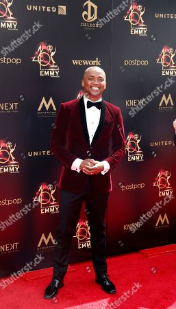 Stock Picture of DaJuan Johnson arrives at the 46th annual Daytime Emmy Awards at the Pasadena Civic Center in Pasadena, California, USA, 05 May 2019.